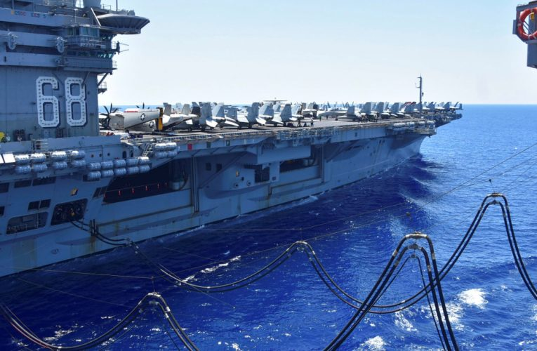 Two US Navy aircraft carriers conduct South China Sea drills