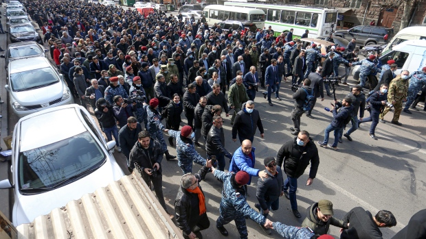Armenia PM Nikol Pashinyan accuses army of attempted coup