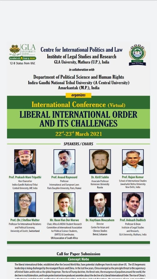 Call for Papers: Liberal International Order and Its challenges