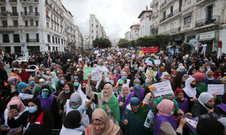 Algerian women protest demanding equal rights