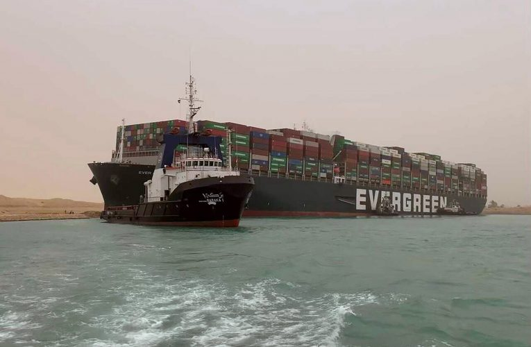 Egypt's Suez Canal blocked by huge container ship