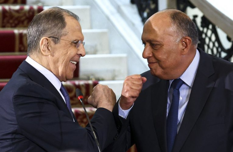 Russia's FM in Egypt for talks on ties and Ethiopia's dam