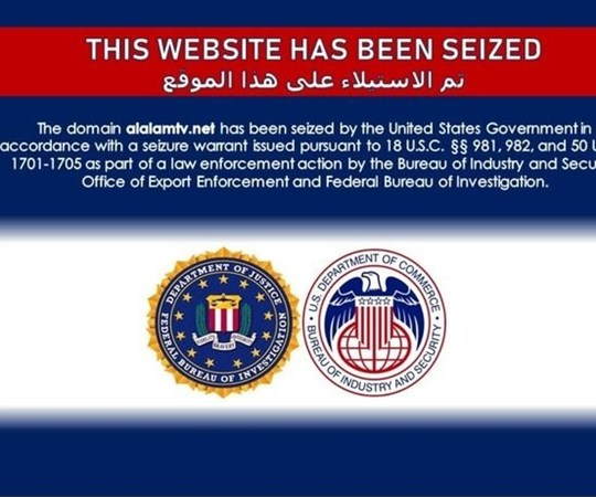 US seizes website domains for Iranian government