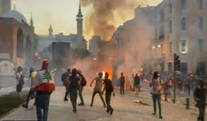 84 injured as protests turn violent in Lebanon's Beirut