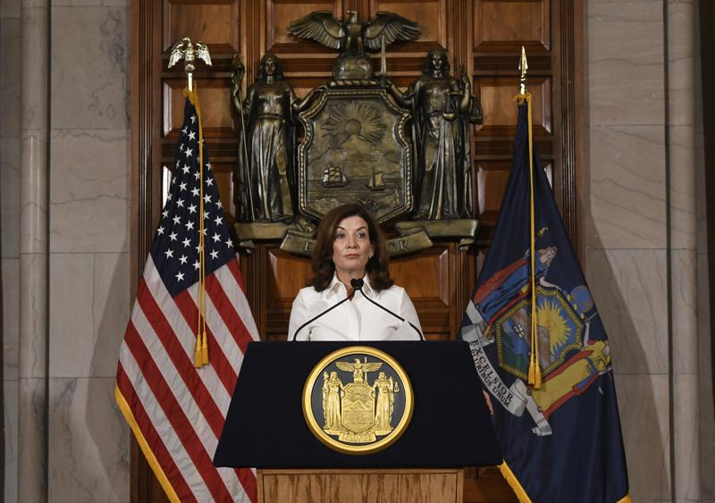 Hochul vows swift action as she takes helm in New York